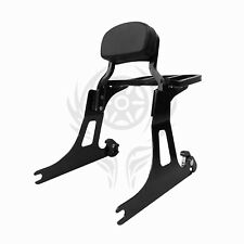 CHOP Detachable Passenger Backrest Sissy bar w/rack For 06-17 DYNA STREET BOB