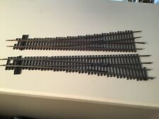 Pair of  used Shinohara  HO scale code 83 #6 turnouts (1 left  and 2 right)