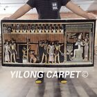 YILONG 2'x4' Handknotted Silk Rug Ancient Carpet Pictorial Home Tapestry L112A