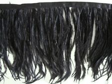 Ostrich Feather Fringe ,sold by yards ,6/7 inches lenght ,black color