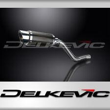 "Kawasaki KLR650C 8"" Mini Carbon Round Muffler Exhaust 95 96 97 98 99 00 01 02 03"
