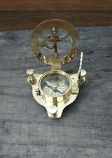 Handmade Nautical Astrolabe Desktop WEST LONDON SUNDIAL Compass Decorative