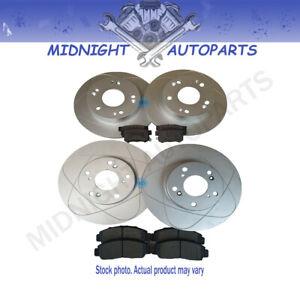 305mm 2 Front 288mm 2 Rear Brake Rotors + Ceramic Pads For Volvo S60, S80, V70