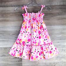 Hanna Andersson Girls Dress Size 80 18/24 months Twirl Polka Dot Bubble straps