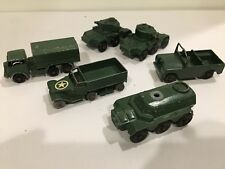 Vintage LESNEY Saladin, Saracen personnel carrier, lorry, tank die cast matchbox