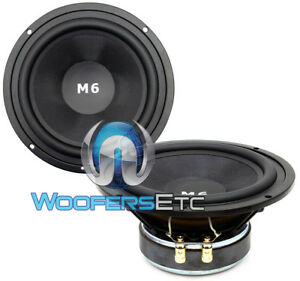 "HD-M6 CDT AUDIO 6.5"" HIGH DEF 4 OHM 300W MAX CAR MIDRANGE SPEAKERS PAIR NEW"