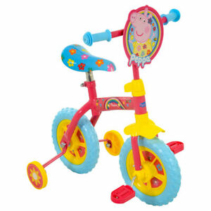 "Peppa Pig 2 in 1 10"" Training Bike: BOX DAMAGED"