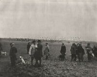 Hunting Dog Field Trials in Normandy France, Large 1890s Antique Print & Article