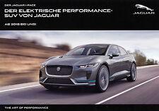 JAGUAR I-PACE F-PACE Elektro Elektrik Studie Concept Car Prospekt Sheet 2018