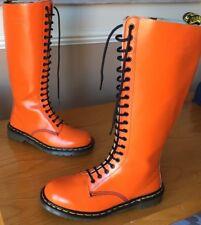 Vintage Dr Martens 1420 orange smooth leather boots UK 8 EU 42
