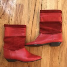 Tarantino's Red Leather Boots Sz 6