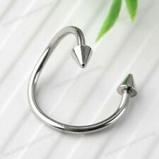 1pc 18G Stainless Steel Flexo Twist Spike Ear Labret Nose Lip Ring Bars Piercing