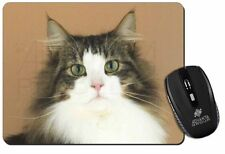 Tabby and White Cat Computer Mouse Mat Christmas Gift Idea, AC-49M