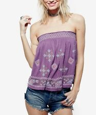 NWT $108 Free People U Got It Bad Strapless Bohemian Style Top S.