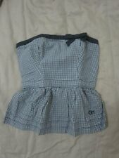 NWT Auth Gilly Hick by Abercrombie&Fitch Lurline Bay Navy Check Tube Top (sz S)