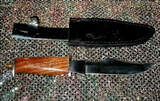 """Hunting Knife Stainless Steel 11"""" With Leather Sheath & Wood Handle"""