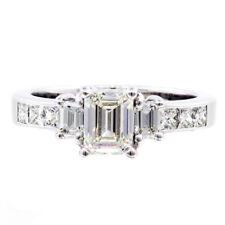 18k Rose Gold Emerald Shape Diamond Engagement Ring 2.20 Carat GIA Certified