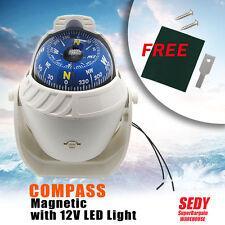 Boat Compass Marine Mount Navigation Nautical Sailboat 12V LED Caravan Truck Van