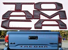 Tailgate Insert Tailgate Letters fits 2016-2020 Toyota Tacoma (Black Red) (Fits: Toyota)