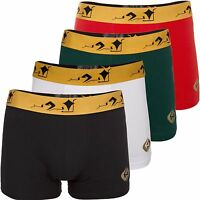 4 Pack Mens Boxers Small 30-32 Boxer Shorts Black White Red Green Trunks Pairs