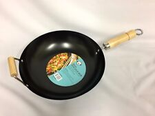 30cm Non Stick Wok With Wood Handles New