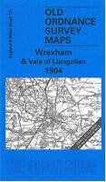 OLD ORDNANCE SURVEY MAP WREXHAM VALE OF LLANGOLLEN 1904 BRYMBO CHIRK RUABON