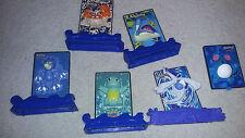 Pokemon 2000 Burger King Card Toys, Marill, Golduck, Kingler, Lugia Lapras