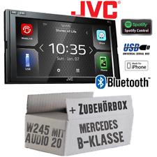 JVC Radio for Mercedes B Class W245 Audio 20 Car Bluetooth USB Weblink Waze