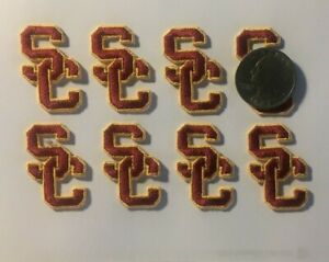 USC patch Trojans patch Iron or Sew On usc Embroidered usc patch 8 sc patches