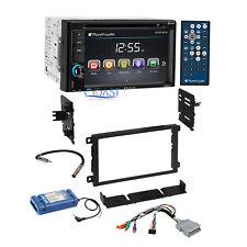 Planet Audio Car DVD MP3 Bluetooth Stereo GM Dash Kit Amp SWC Retention Harness