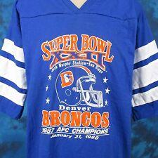 NOS vintage 80s DENVER BRONCOS SUPER BOWL XXII FOOTBALL JERSEY T-Shirt L/XL nfl