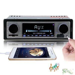 Autoradio Stéréo Ancien Vintage Retro Bluetooth AUX FM MP3 USB SD 1Din Lossless