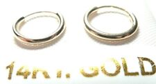 14Kt Pure Solid Gold Very Small 10MM Endless Hoop Earrings......100% Guaranteed!