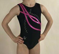 Jam Wear Gymnastics Leotard Womens Girls Adult Large AL Ribbons Mystique Foil