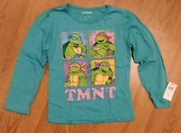 NEW Teenage Mutant Ninja Turtles TMNT 5T Teal Turquoise Long Sleeve T-shirt