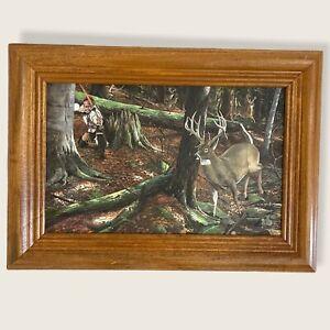 Jack Paluh- Big Woods Ambush Miniature Print Framed.