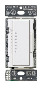 Maestro Lutron  Indoor  In Wall Countdown Timer  3 amps 120 volts White