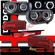 08 09 10 Dodge Challenger Dual CCFL Halo Projector Headlights & LED Tail Lights
