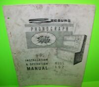 """SEEBURG SELECT-O-MATIC  MODELs /""""B ~ R/"""" STRIPPER PLATE ONLY WITH SCREWS"""