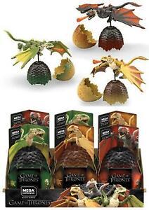 Game of Thrones Dragon Eggs by Mega Construx Drogon, Rhaegal , Viserion