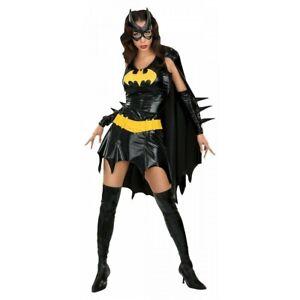 Batgirl Costume Adult Sexy Superhero Halloween Batwoman Fancy Dress Large