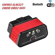 KW903 ELM327 Bluetooth WiFi OBD2 OBDII Auto Fehler Diagnose Scanner Werkzeug NEU