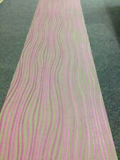 Sirpi Heavy Vinyl Wallpaper Purple & Brown/grey Waved Stripe(13 Rolls Available)