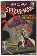 MARVEL Comics SPIDERMAN Amazing Silver age #44 1967 VG LIZARD MAN