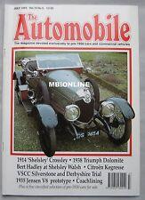 The Automobile magazine 07/1992 featuring Jensen, Triumph, Citroen, Crossley