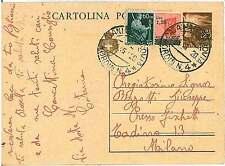 ITALIA LUOGOTENENZA - INTERO POSTALE con annullo CATANIA 1946