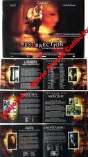 RESURRECTION - Lambert - Cronenberg - FRENCH PRESSBOOK