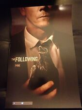 """SDCC 2013 THE FOLLOWING POSTER 11""""x17"""" EXCLUSIVE KEVIN BACON FOX TV HTF RARE"""