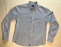 UNTUCKit Blue Plaid Button Up Shirt Men's Size Medium Long Sleeve
