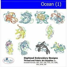 Embroidery Design CD - Ocean(1) - 10 Designs - 9 Formats - Threadart